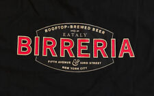 NEW Italian EATALY Roof Top BIRRERIA New York City Black T Shirt, Adult XL