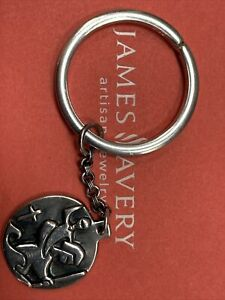 James Avery St Christopher 925SS Key chain ring GIFT BOX (ring Is New)!!