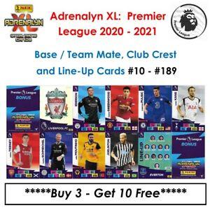 Adrenalyn XL - Premier League 2020 - 21: Base Cards / Team Mate Cards #10 - #189