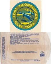 Vintage Fort Ticonderoga New York Impko Souvenir Travel Windshield Decal