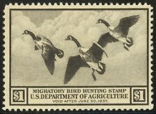 RW3 - $1.00 1936 Duck Unused - No Gum - Fault Free