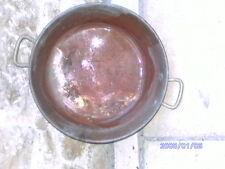 Chaudron en cuivre confiture été 37 cm diamètre base 30 cm 14cm de haut ancien
