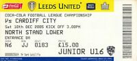 Ticket - Leeds United v Cardiff City 10.12.05