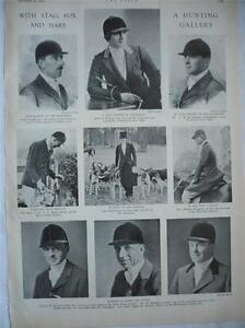 Stag Fox and Hare Hunting Gallery Hunt Masters 1933 Southdown Minehead Harriers