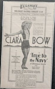 Large 1930 Clara Bow movie Ad. - Original
