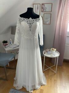 Brautkleid Hochzeitskleid Standesamtkleid Chiffon Gr 42/44