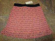 River Island Skirt Size 10 BNWT Pleated Pink Flamingo PrintChiffon Dress UP NEW