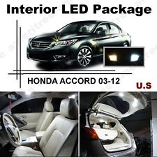 White LED Lights Interior Package Kit for Honda Accord 2003-2012 ( 12 Pcs )