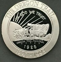 1993 OREGON TRAIL Half Dollar Coin Copy 1 Troy Oz .999 Fine Silver Round Medal