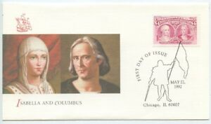 1992 FDC, $4.00 COLUMBIAN ISSUE