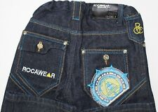 BOYS  JEANS ROCAWEAR Size 5 ADJUSTABLE Side Elastic WAIST. NEW