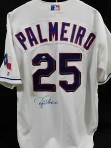 Rafael Palmeiro Texas Rangers Signed Authentic Jersey JSA Authenticated