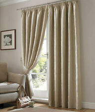 "Pencil Pleat Lined Curtains 46"" wide x 90"" drop. Picasso Linen  CLEARNCE"