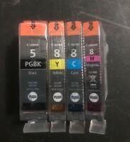 Canon CLI-8C/M/Y PGI-5BK Ink Cartridges set of 4 for Canon Pixma iP3500 Genuine