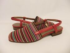 NEW Women's Vaneli Janet US 6M Red Multi Cord Slingback Sandal