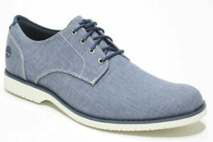 TIMBERLAND MEN'S WOODHULL DENIM CANVAS OXFORD SHOES SELECT COLOR