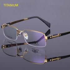 82d3952622d Titanium Eyeglass Frames Half Rimless Men s Spectacle Frame Glasses Frames  8001