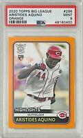 ARISTIDES AQUINO ROOKIE 2020 TOPPS ORANGE #298 PSA GRADED 9 CINCINNATI REDS RC