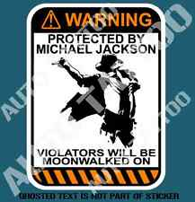 MICHAEL JACKSON WARNING DECAL STICKER CAR TRUCK TOOLBOX TOOLS DECALS STICKERS