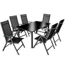 Alu Sitzgruppe 6+1 Gartenmöbel Gartengarnitur Tisch Stuhl Essgruppe Gartenset