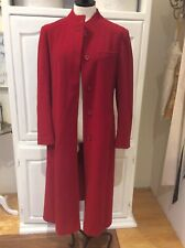 Vintage Forecaster Of Boston Red 100% Wool Long Winter Women's  Coat 11/12
