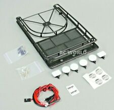 RC Scale Metal ROOF RACK Spare  Land Rover, Jeep W/ 4 Hella LED Lights + 2 REAR