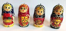 Matryoshka Matrioshka Christmas Ornament Set Fair Trade Hand-Made Crossroads