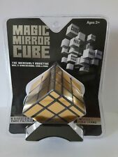 Gold Mirror 3x3 Gold & Black Magic Speed Rubik's Cube Puzzle New with Stand!