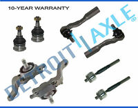 (8pc) Front Upper Lower Ball Joint Inner Outer Tierod for Toyota Tundra Sequoia