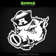 "Vintage Arkansas - Razorback - Elephant - NCAA - White Vinyl Sticker Decal 5"""