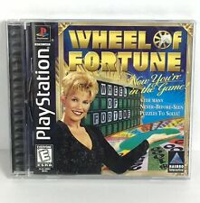 Wheel of Fortune PS1 PlayStation Black Label Classic TV Game Show Video Game