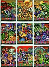 Rittenhouse Marvel Complete Avengers Greatest Enemies Chase Card set GE1 - GE9