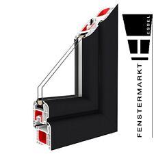 Festverglasung Fenster Anthrazitgrau 1 flg. Fest Kunststofffenster PVC anthrazit