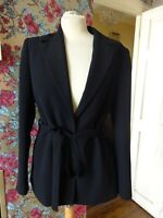 Ladies Dorothy Perkins Black Ties Waist Jacket Tailored Size 14