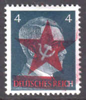 GERMANY 508 LOCAL SCHWÄRZUNGEN CHEMNITZ RED STAR OVERPRINT OG NH U/M VF SIGNED