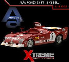 AUTOART 87503 1:18 ALFA ROMEO 33 TT 12 #2 BELL 1975 SPA FRANCORCHAMPS WINNER