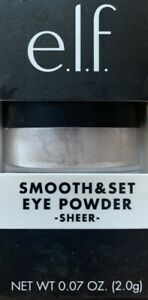 Elf Smooth & Set Eyeshadow Eye Powder Sheer