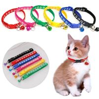 Pet Cat Dog Reflective Collar Flashing Light Up Nylon Night Safety Collars Rt0q