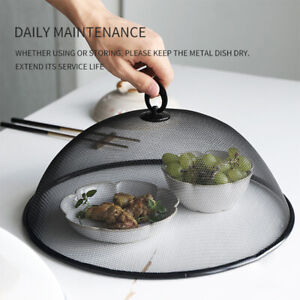 KE_ New Round Iron Metal Food Cover Anti-fly Mosquito Bug Tent Kitchen Tool Fa