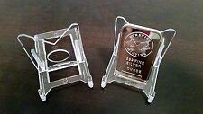 """10 Adjustable 2"""" Display Stand Easel Gold Silver Copper Platinum Ingot"""