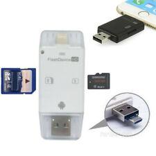USB Flash Drive SD TF Card Reader para iPhone xS XR X 8 7 6s &Plus iPad Mini air