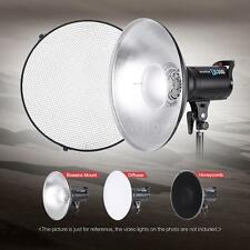 Strobe Video Light Collapsible Grid Beauty Dish Reflector Bowens Mount H0Z8
