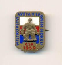 1959 World Ice Hockey Championships Praha Czechoslovakia pin badge