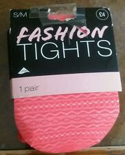 S/M LYCRA Coral Fashion Tights