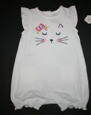 New Gymboree Kitty Cat Face Bubble Romper Outfit Sz 18-24m NWT Meow & Roar Line