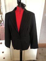 ATMOSPHERE Ladies Black Single Breasted Smart Tailored Blazer Jacket Size 16 NEW