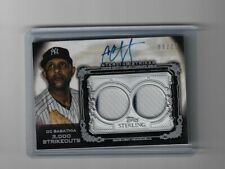 2020 Topps Sterling CC Sabathia Sterling Strikes Relic Patch Auto 9/25 Yankees
