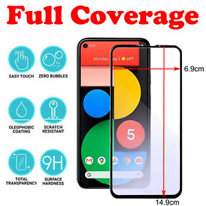 Full Cover 3D Tempered Glass Screen Protector For Google Pixel 5 5XL 4 4A 4XL 3