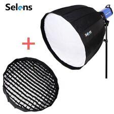Selens 16-Rib Deep Parabolic Umbrella Softbox 120cm &Bowens Grid Mount for Flash