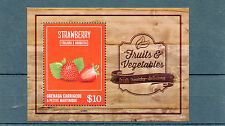 Grenadines of Grenada 2014 MNH Fruits & Vegetables II 1v S/S Strawberry Flora